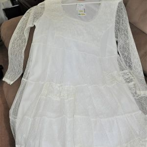 NWT Wiinter White Lace Dress Size M